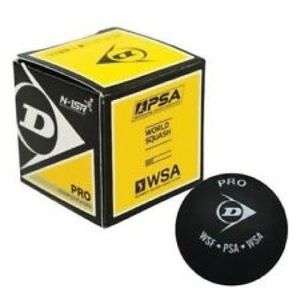 Black classic Pro Dunlop squash ball